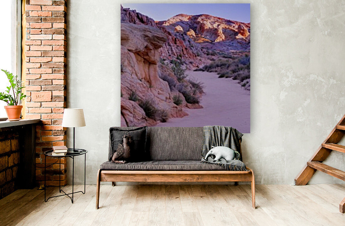 Sunrise over Valley of Fire Wash - Nevada  Art