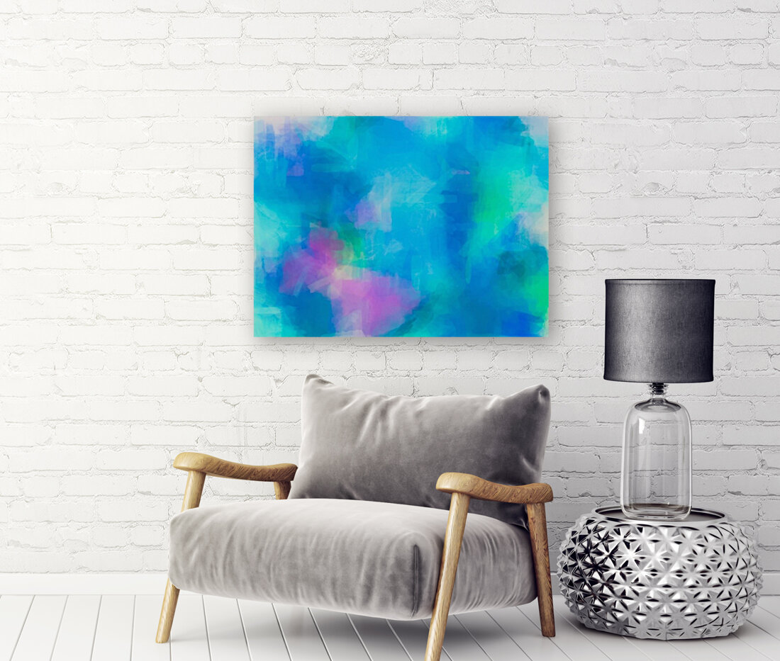 splash painting texture abstract background in blue and pink  Art