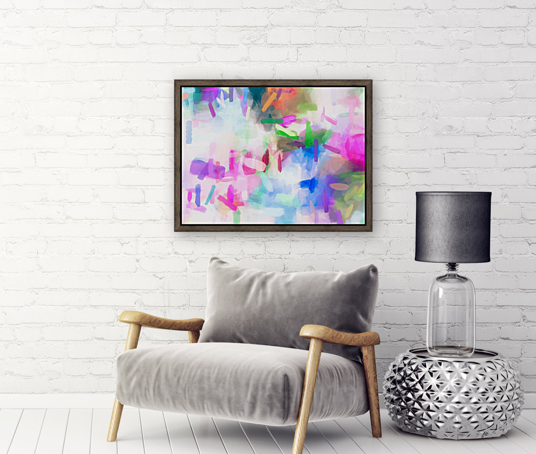 splash painting texture abstract background in pink blue green  Art