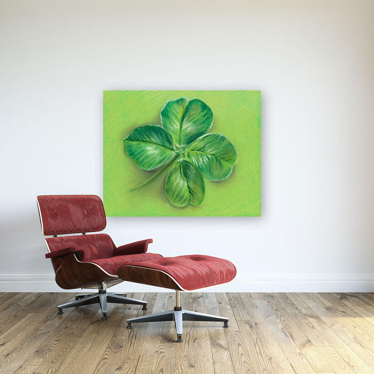 Lucky Four Leaf Clover  Art