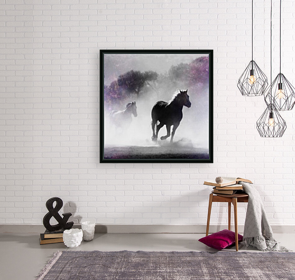 Wild Horses in Nature  Art