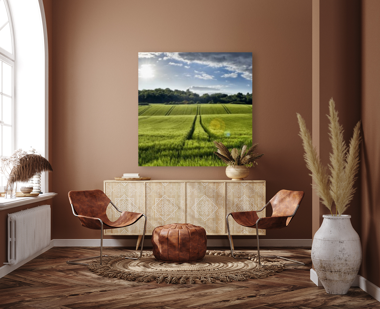 Wheat Fields with Floating Frame