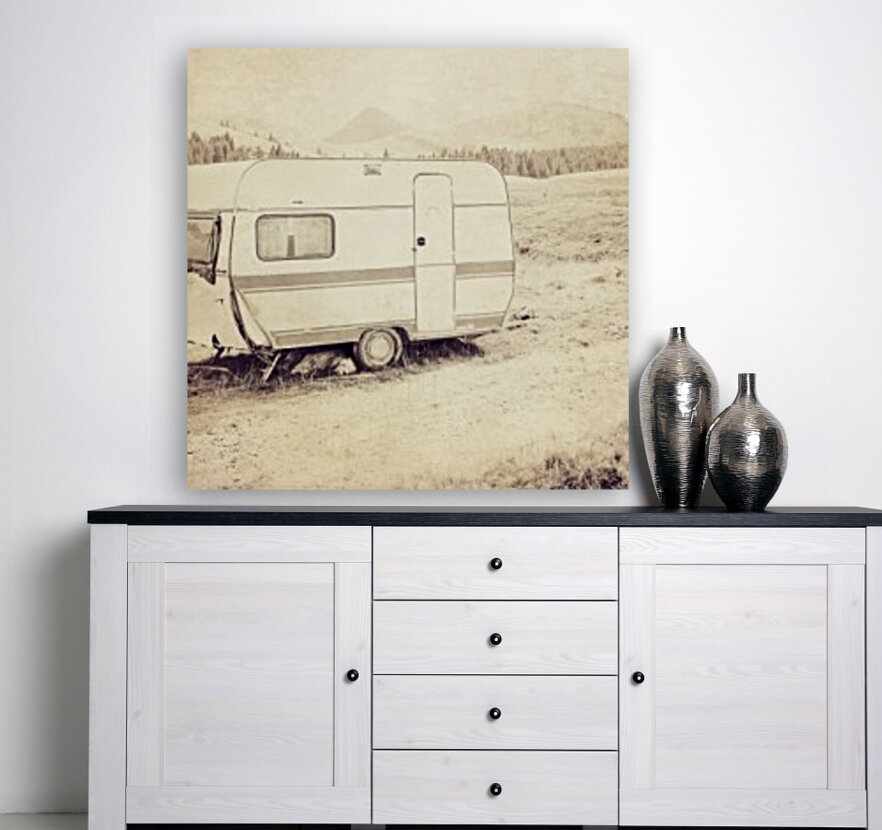 vintage travel trailer  Art