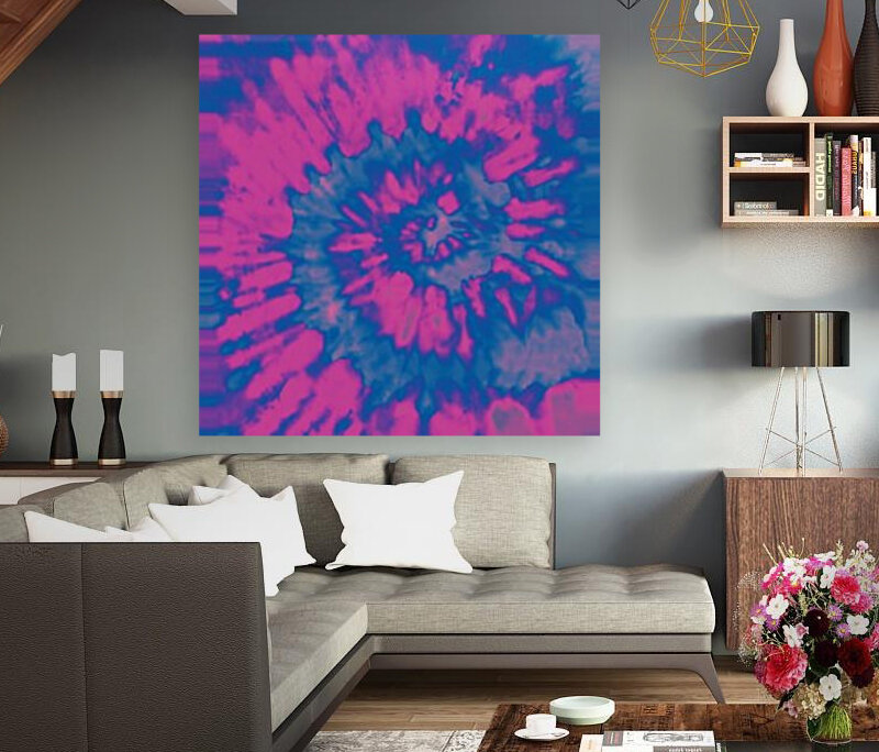 Tie Dyed with Floating Frame