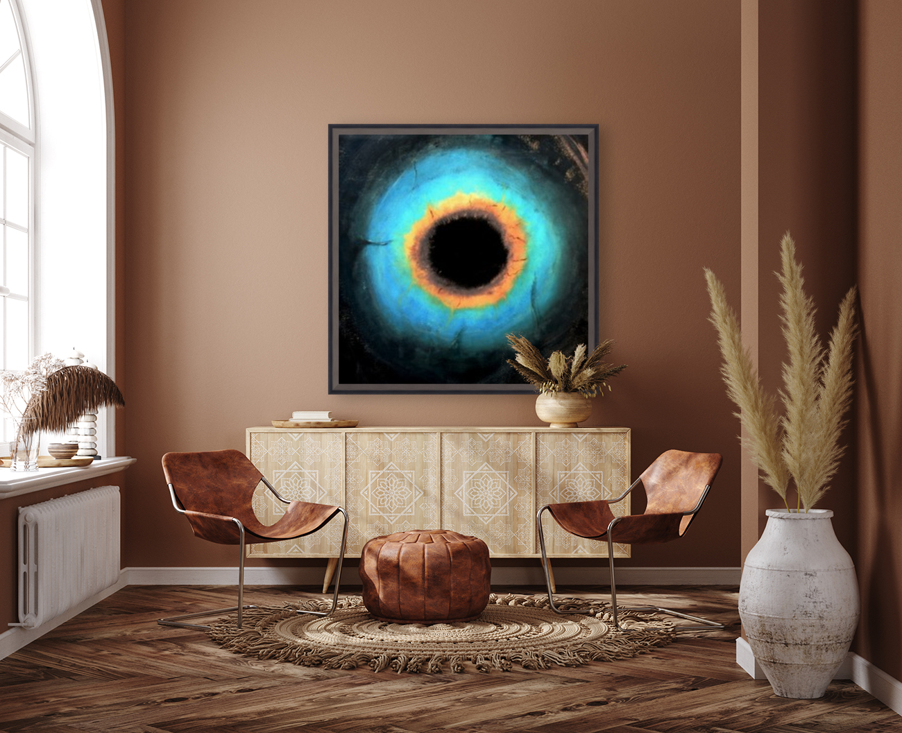 Glimpse of Black Hole No.2 with Floating Frame