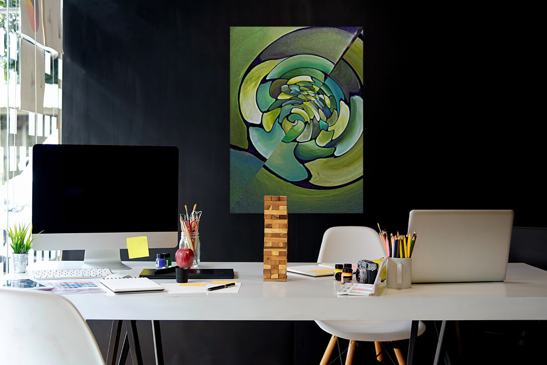 Artdeco Twisted Pattern   Art
