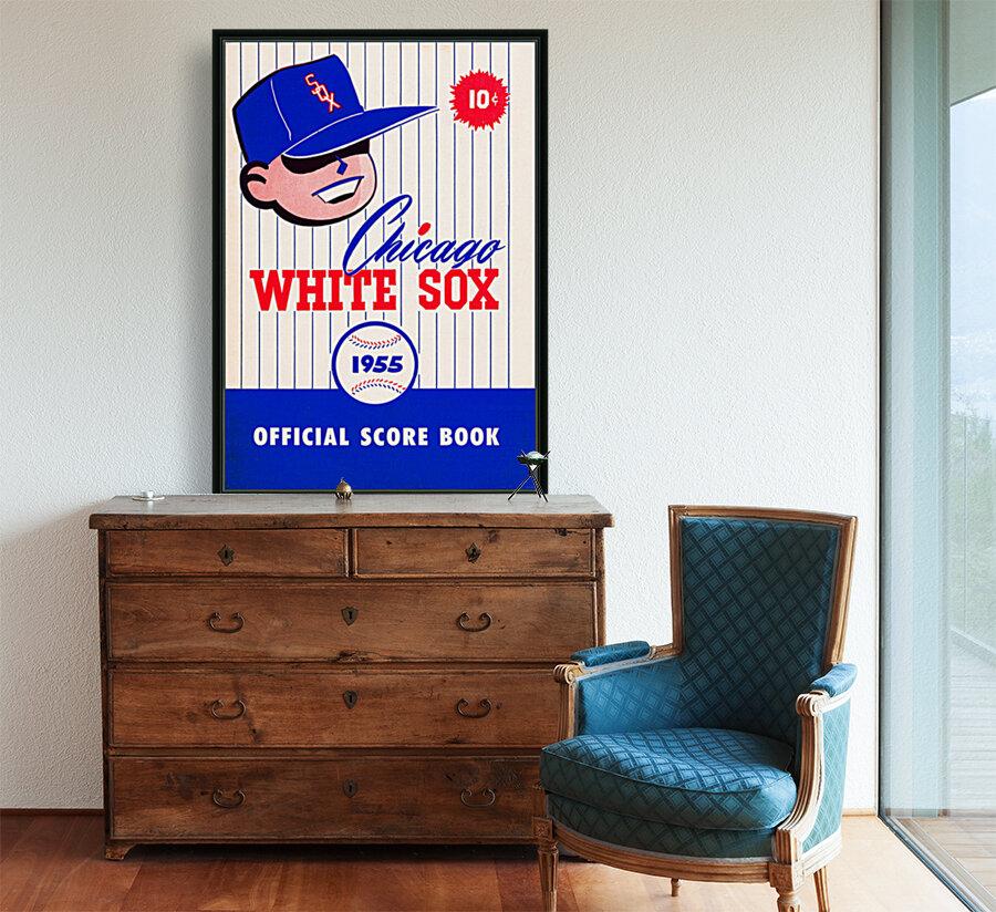 1955 chicago white sox mlb baseball score book poster  Art