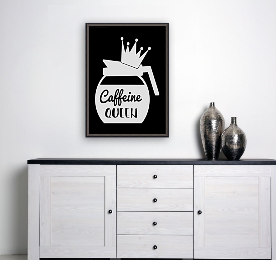 Caffeine Queen with Floating Frame