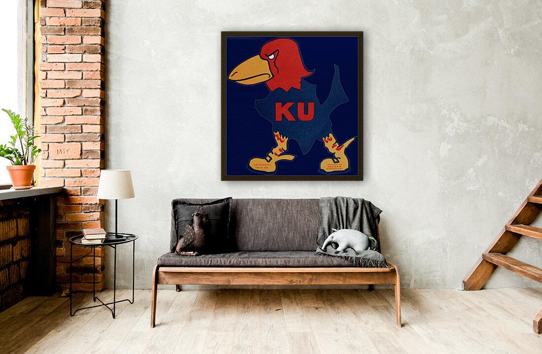 1929 Kansas Jayhawk Art  Art