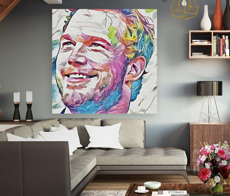 Chris Pratt - Celebrity Abstract Art with Floating Frame