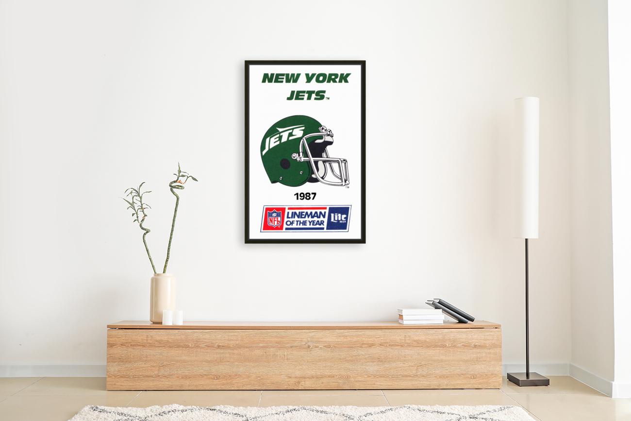 1987 New York Jets Helmet Art  Art