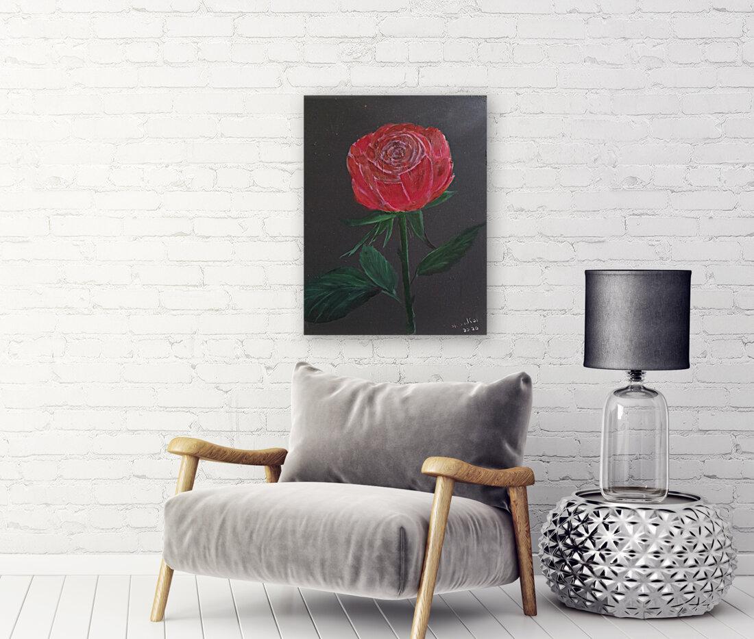 Single red rose  Art