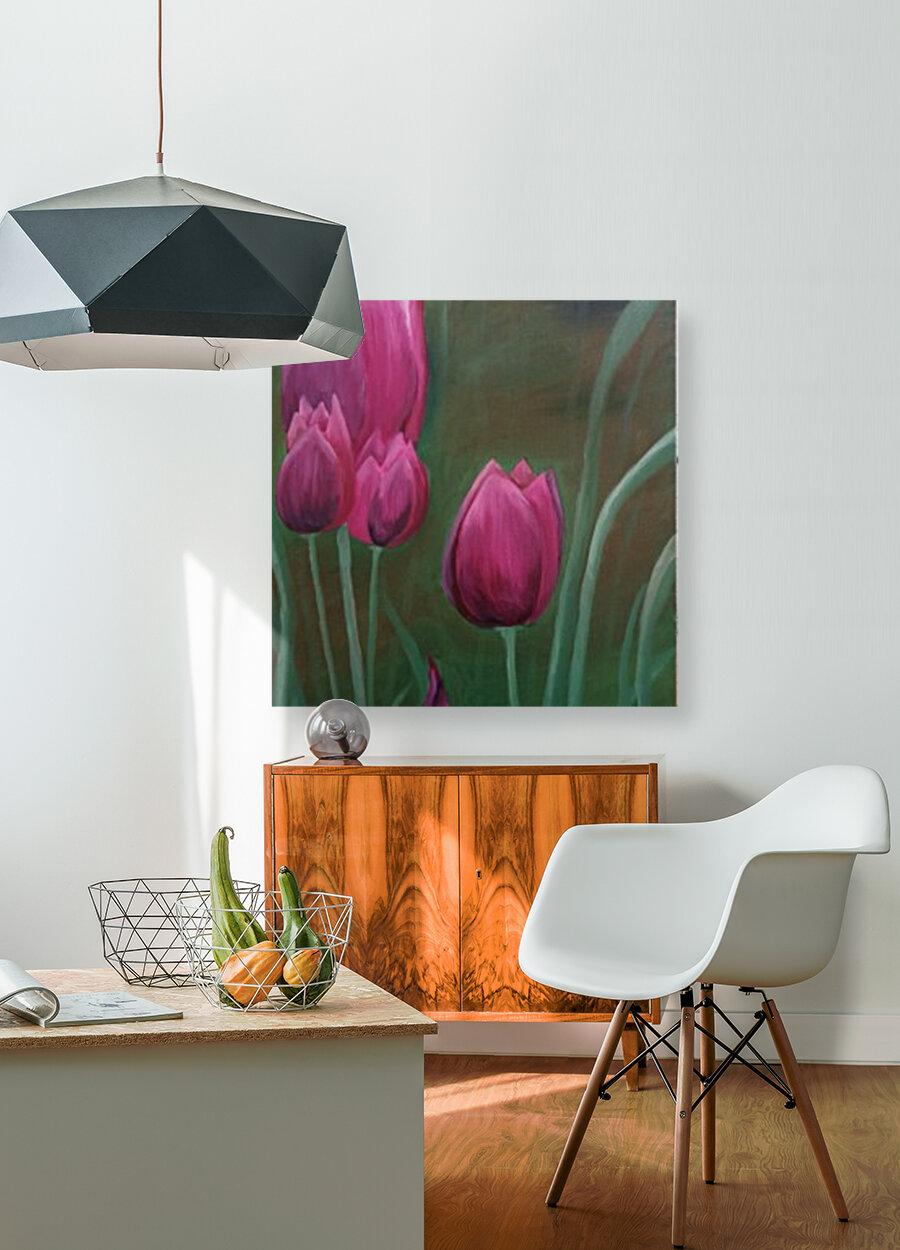 Red Tulips  Art