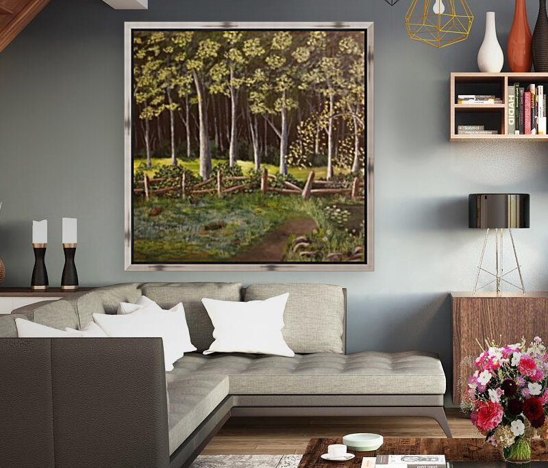 Forest with Floating Frame