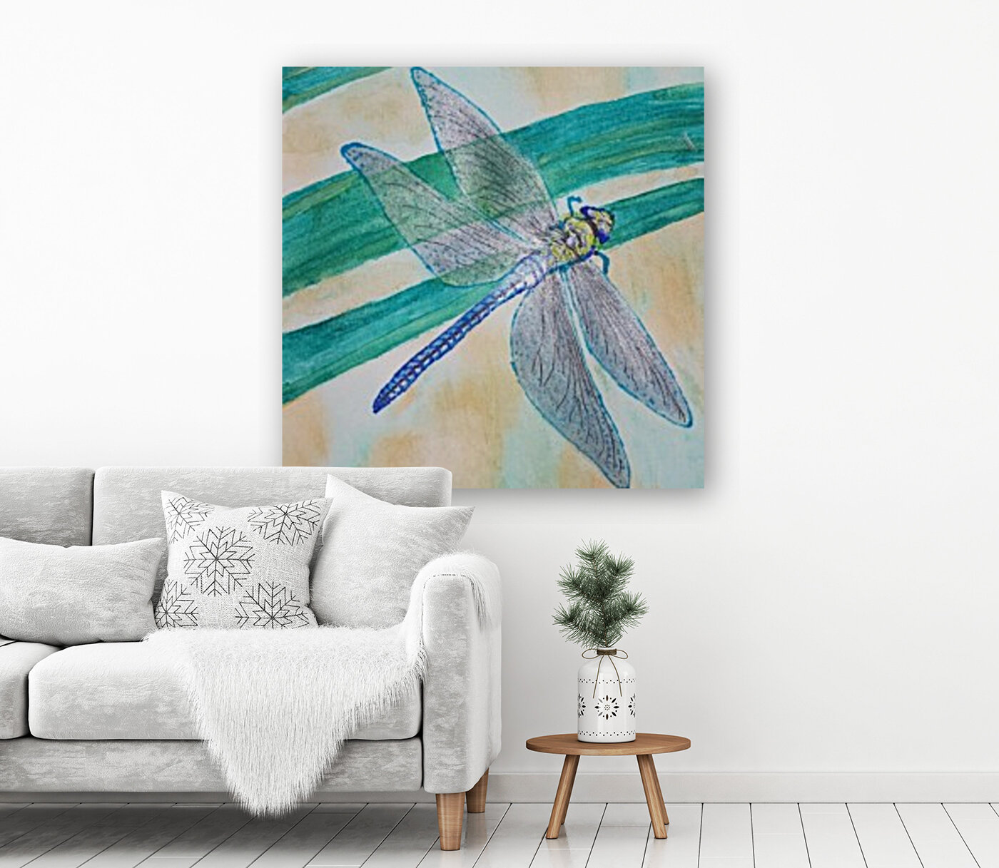 dragon fly with Floating Frame