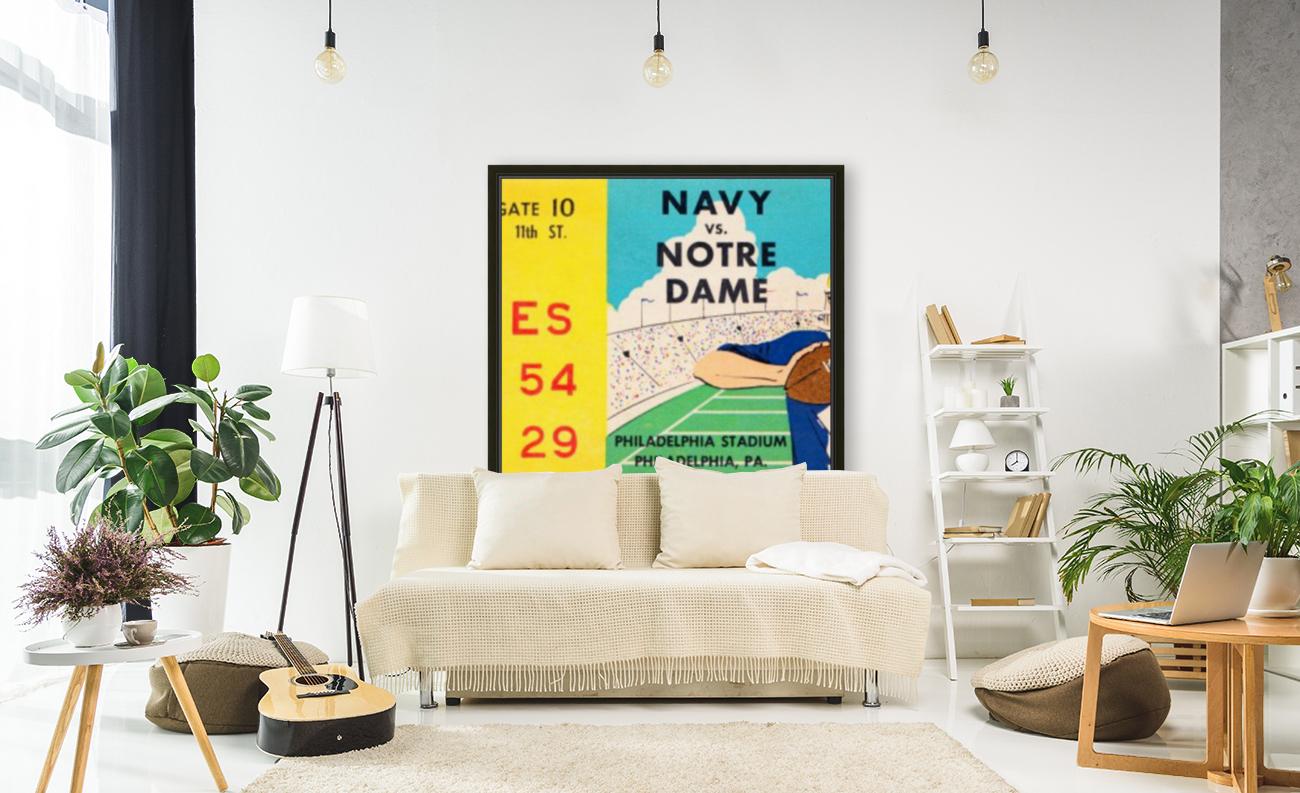 1960 navy notre dame ticket stub canvas  Art