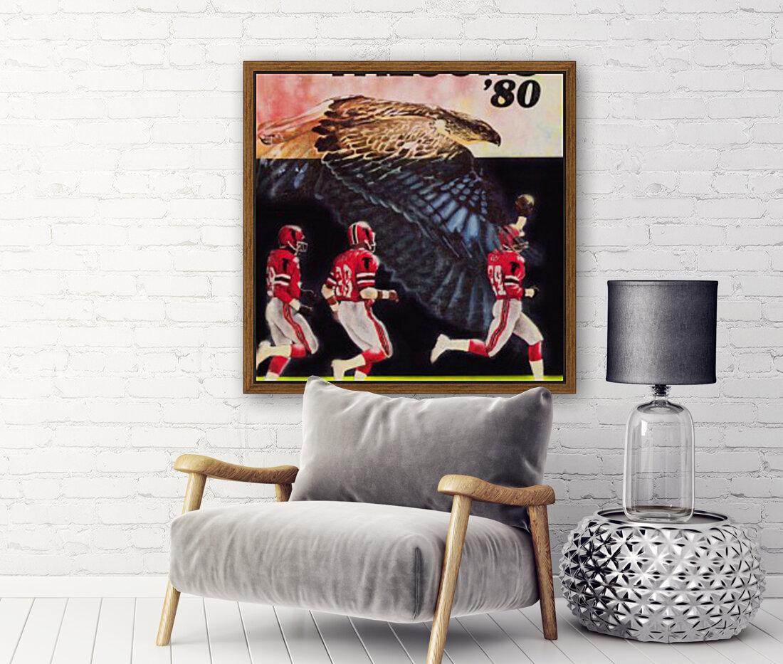 1980 retro nfl atlanta falcons poster  Art
