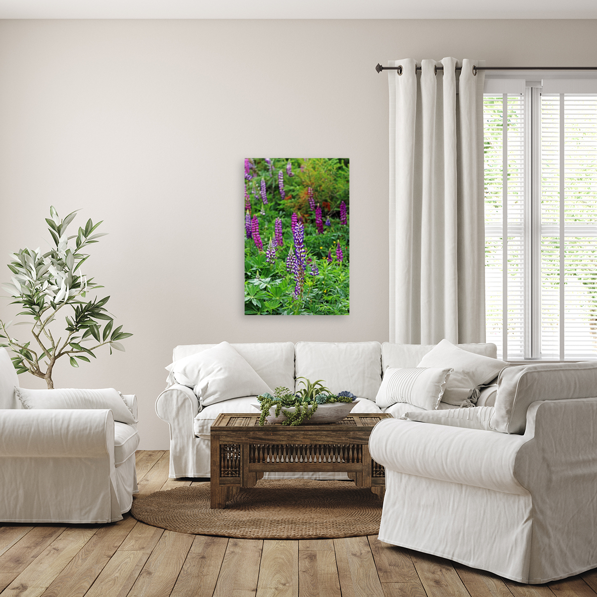 Shades Of Purple Lupine  Art