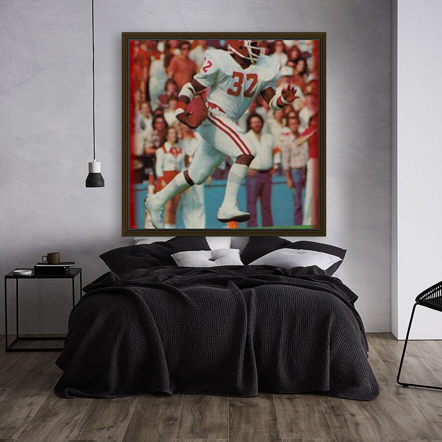 1982 oklahoma sooners retro college football poster  Art