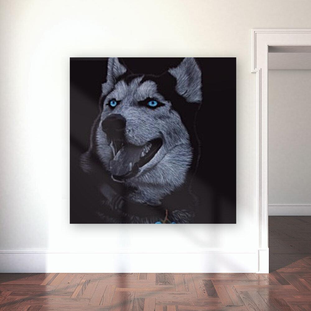 HUSKY_COLOR PENCIL_65.50X80.50  Art