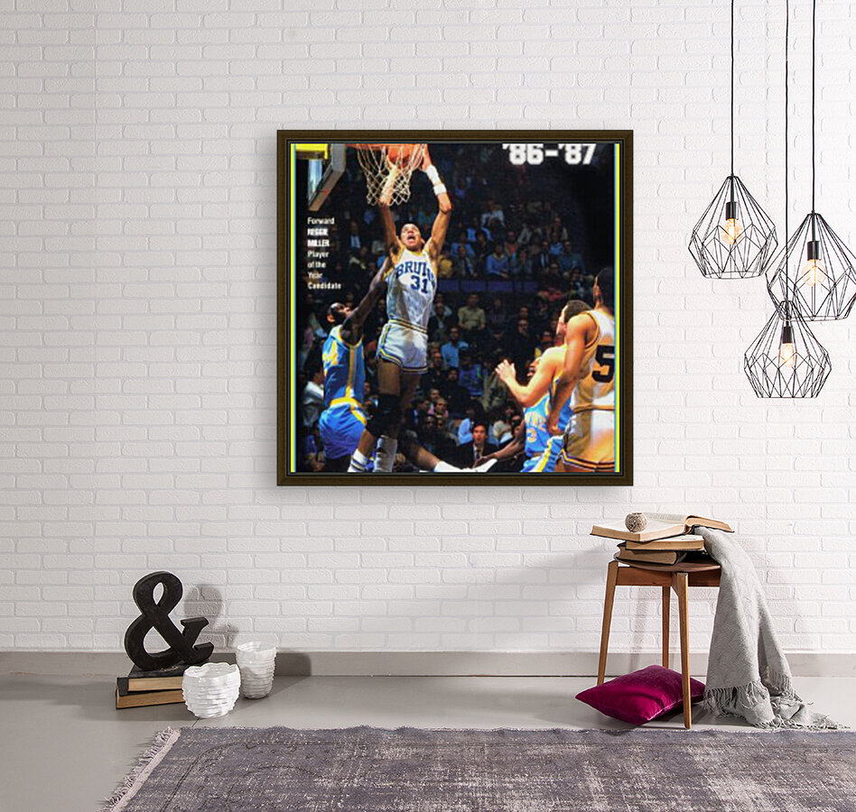 1986 ucla basketball reggie miller poster with Floating Frame
