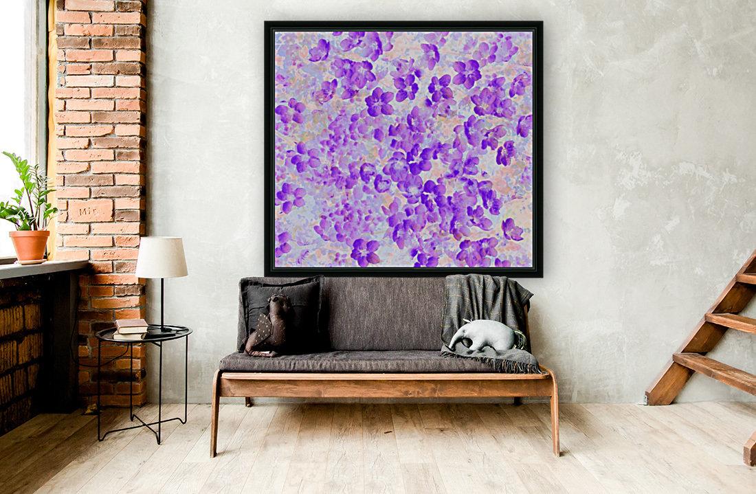 Purple Spring Flowers  Art