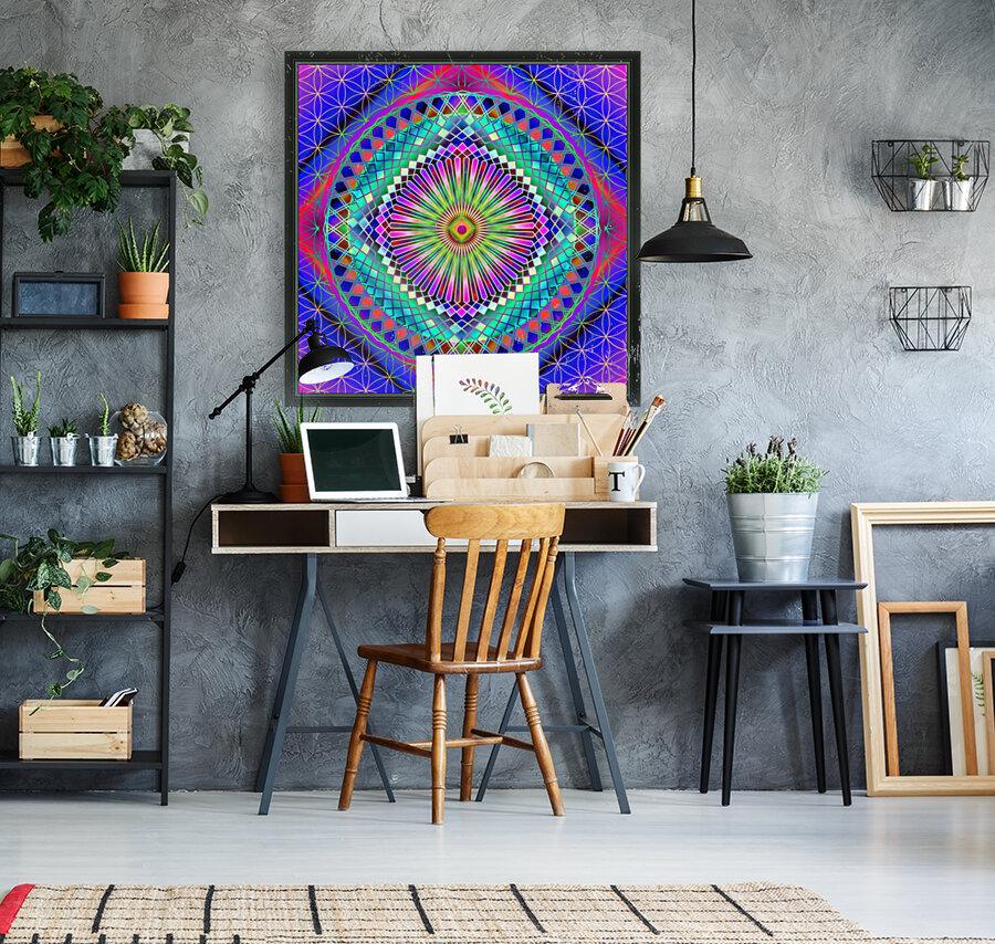 Vintage Sun Mandala  Art