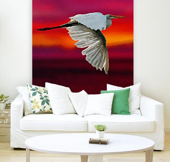 Egret in sunset  Art