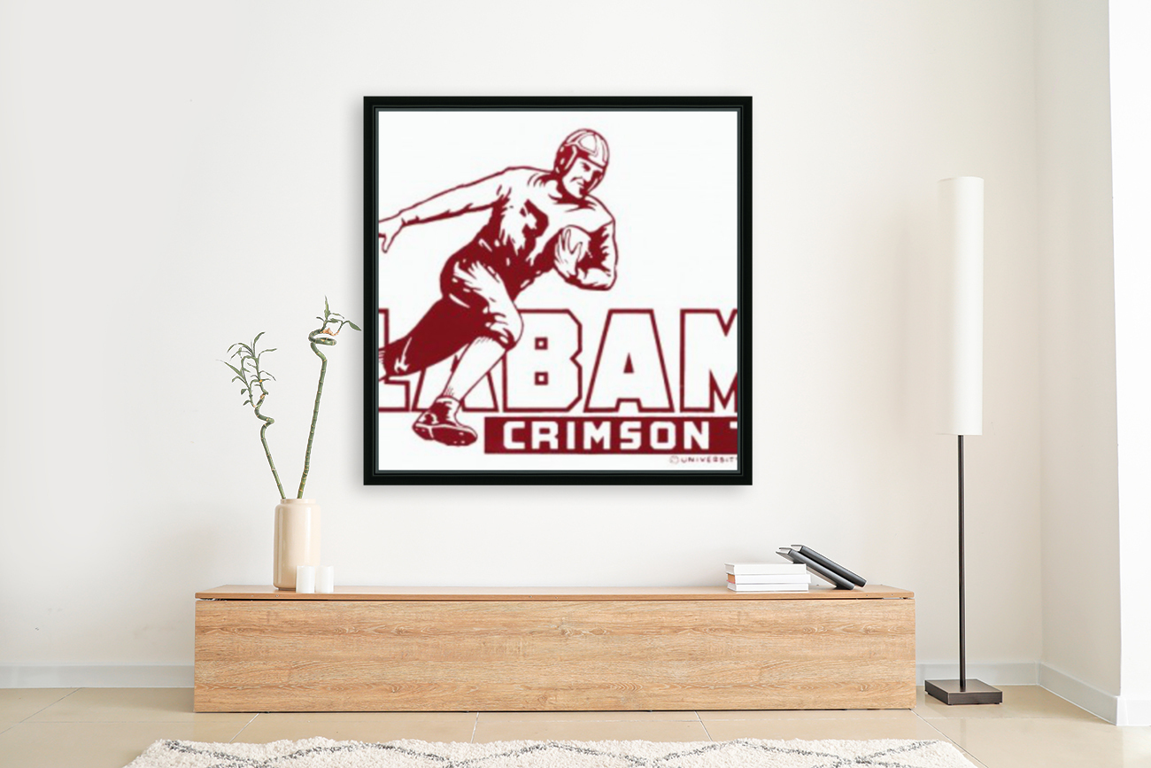 row one brand vintage alabama football crimson tide wood sign with Floating Frame