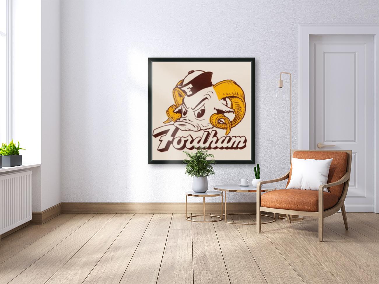 vintage fordham ram mascot college art  Art