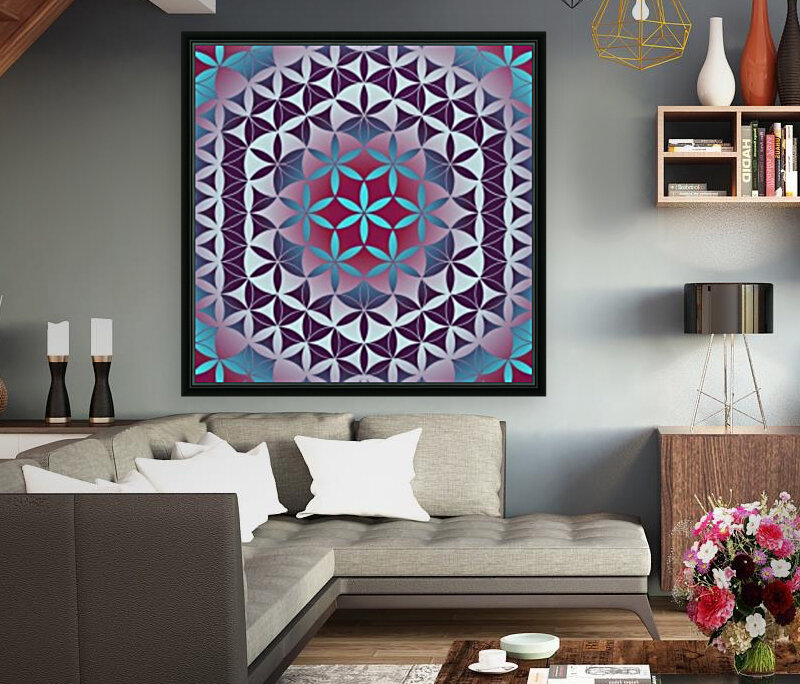 Flower of Life Hexagon Pattern  Art