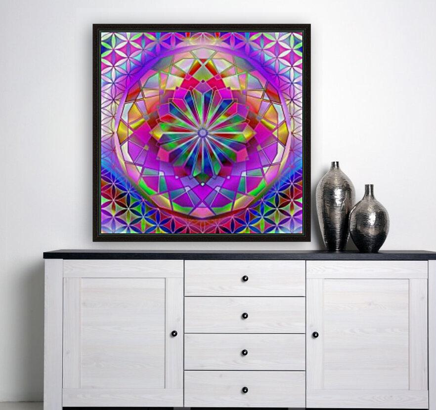 Crystal Flower Mandala  Art