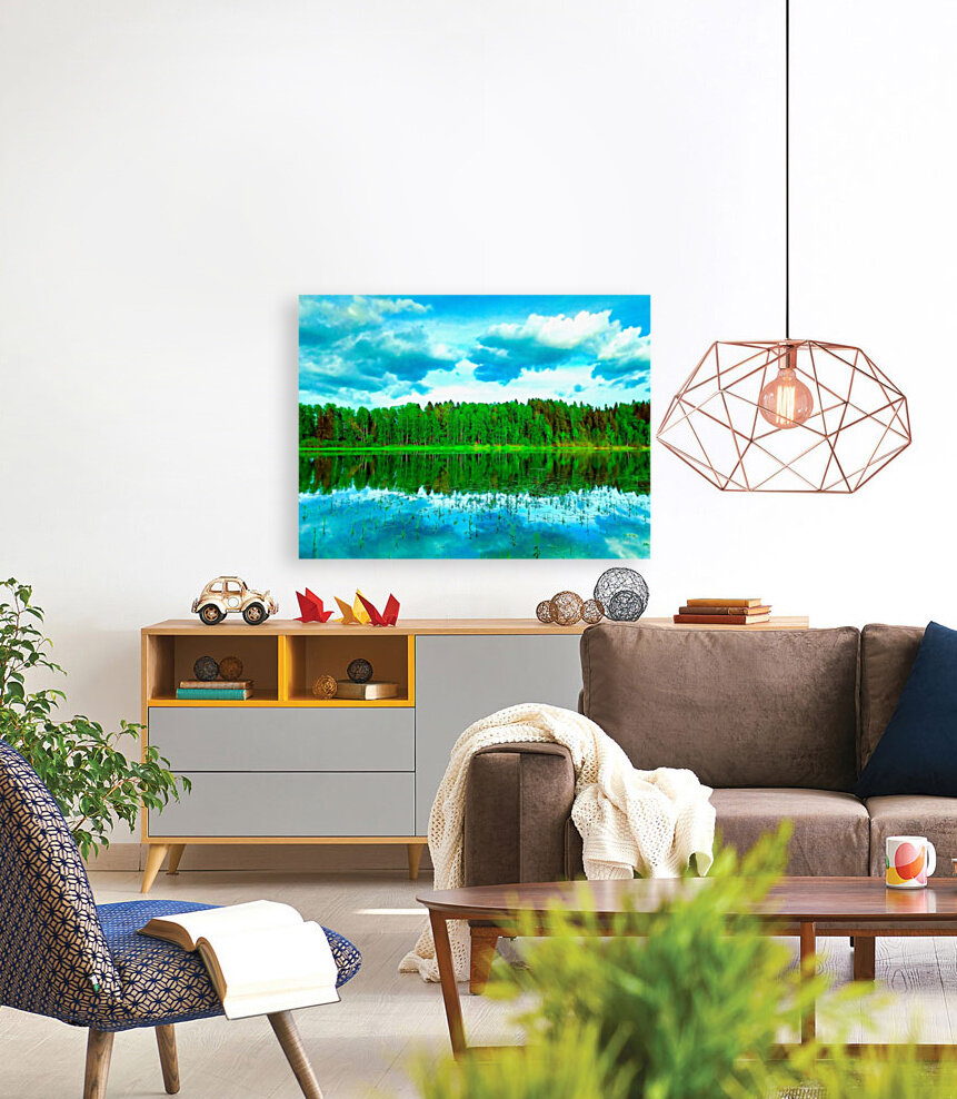 Forest beyond the lake  Art