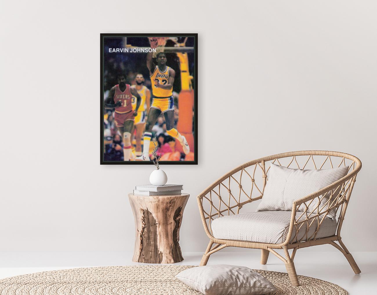 1983 Magic Johnson LA Lakers  Art