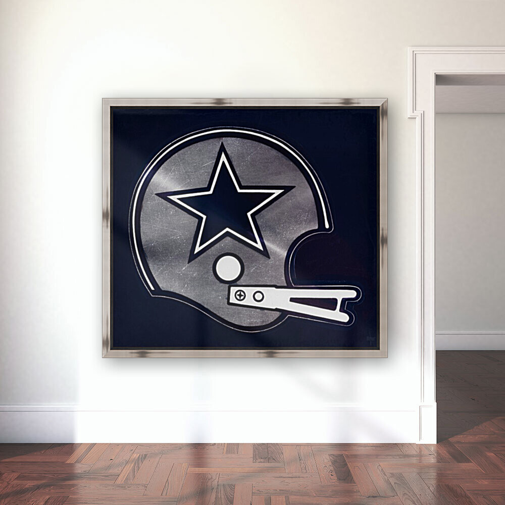 vintage dallas cowboys nfl helmet art  Art