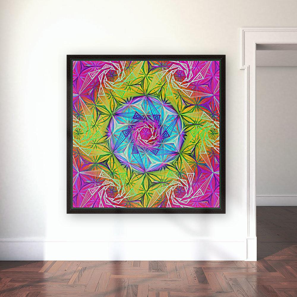 Spirals Kaleidoscope Ciclamen Lame  Art