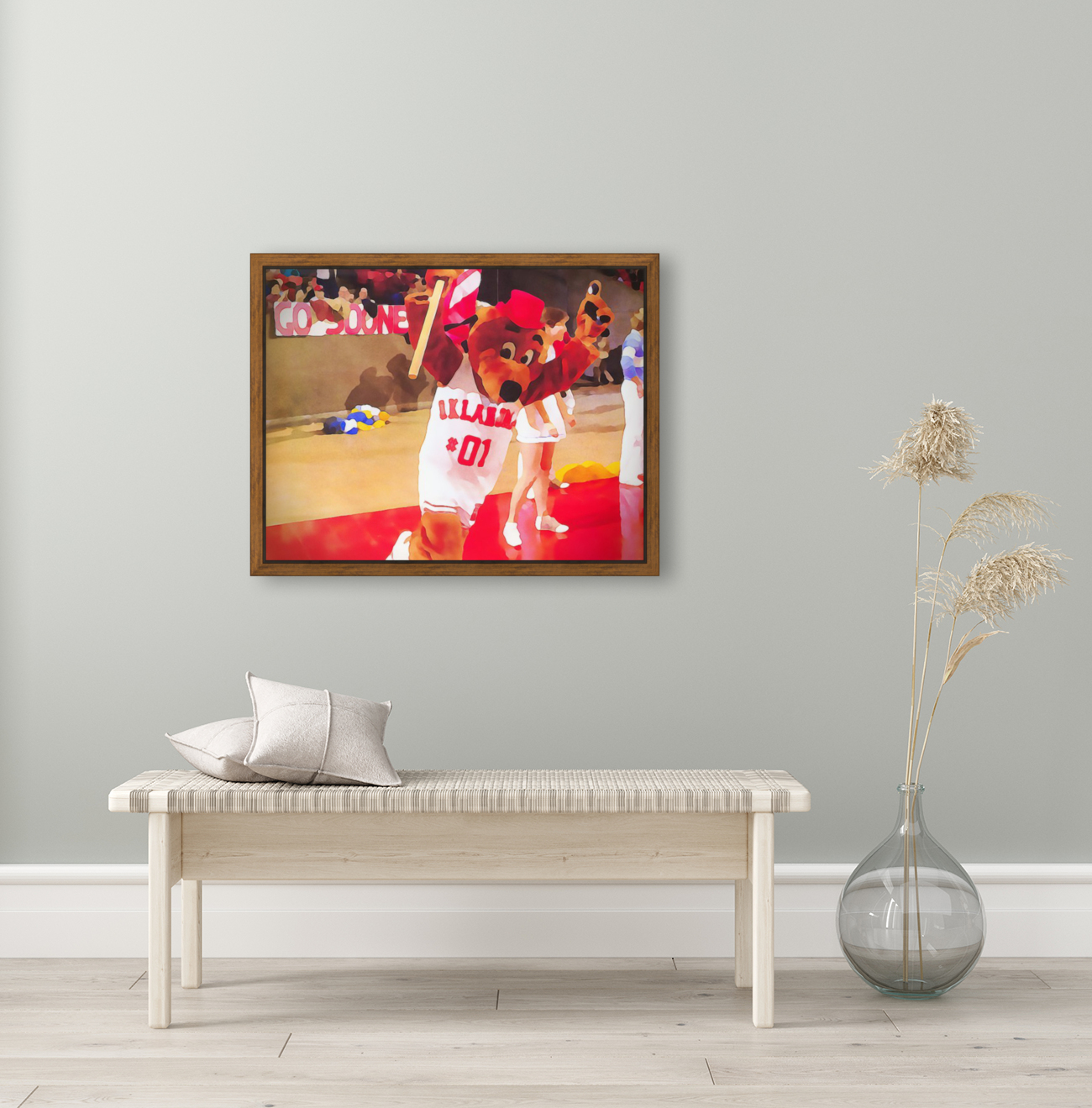 college mascot art top daug oklahoma sooners basketball art  Art