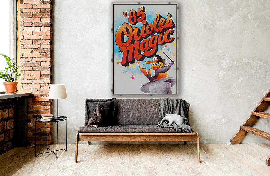 1985 baltimore orioles magic retro sports poster  Art
