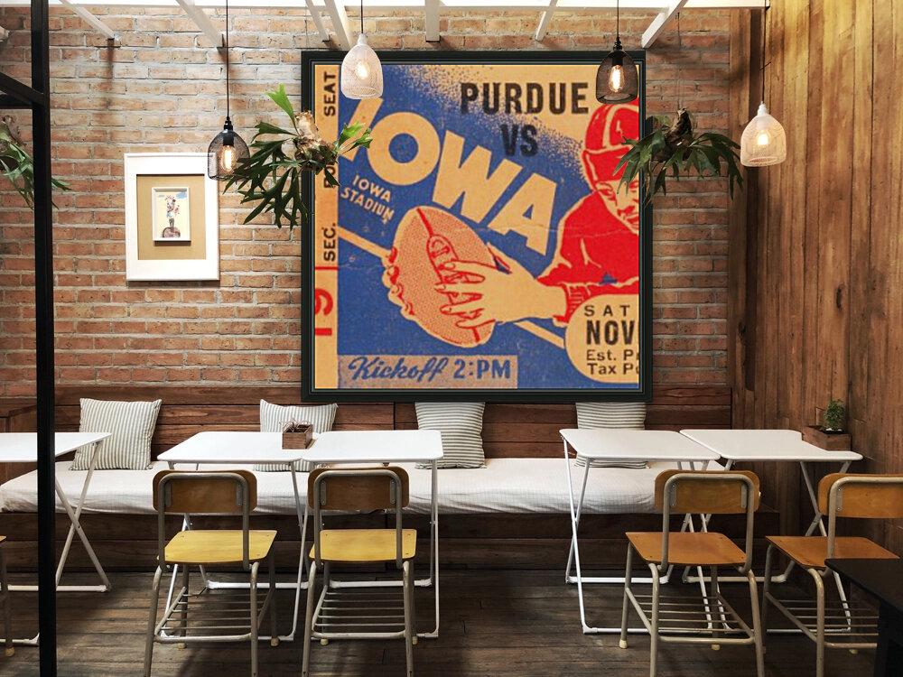 1940 Iowa vs. Purdue  Art
