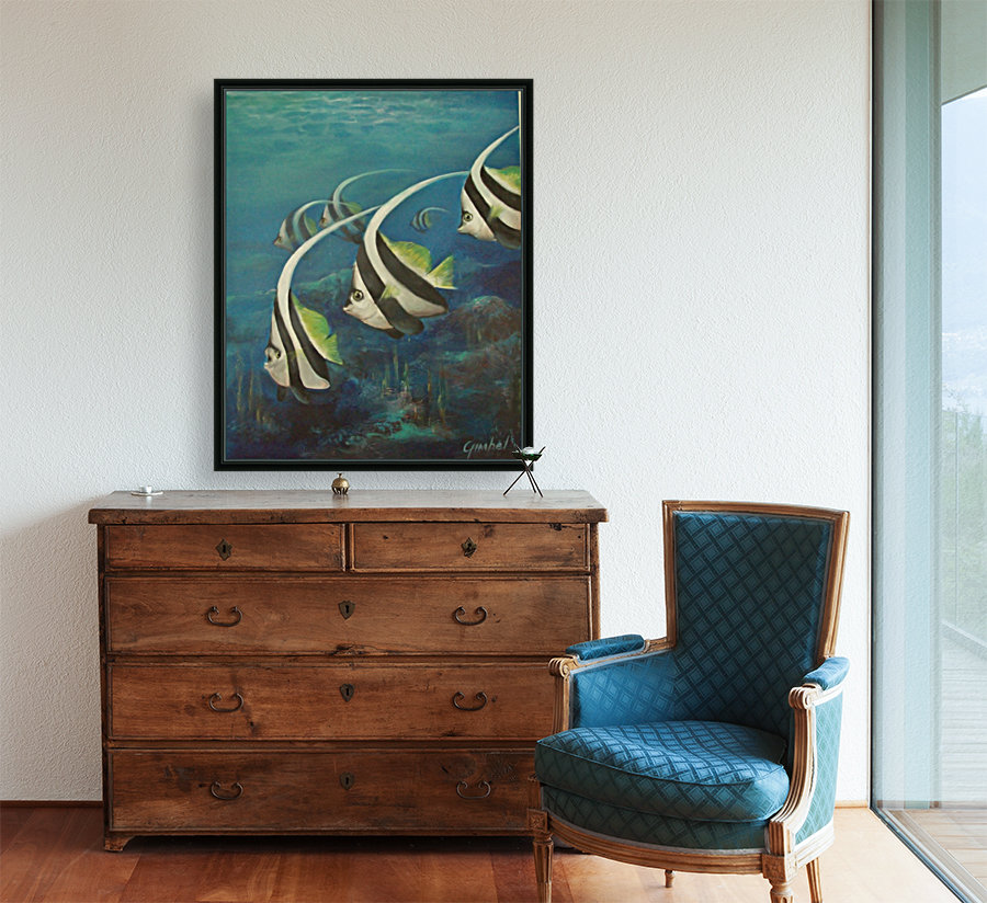 Coral Fish with Floating Frame