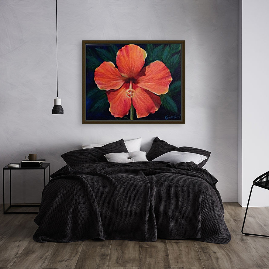 Hibiscus with Floating Frame