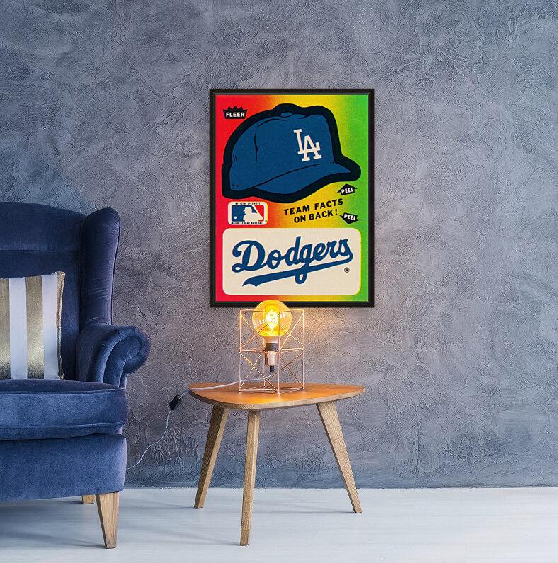 1983 fleer baseball stickers la dodgers ballcap art  Art