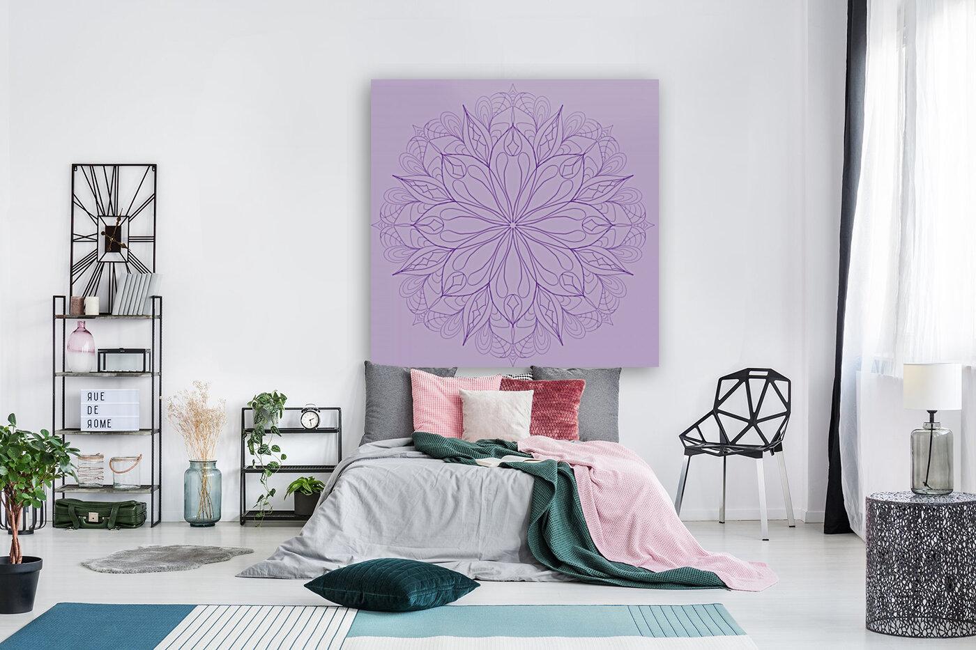 lilac mandala  Art