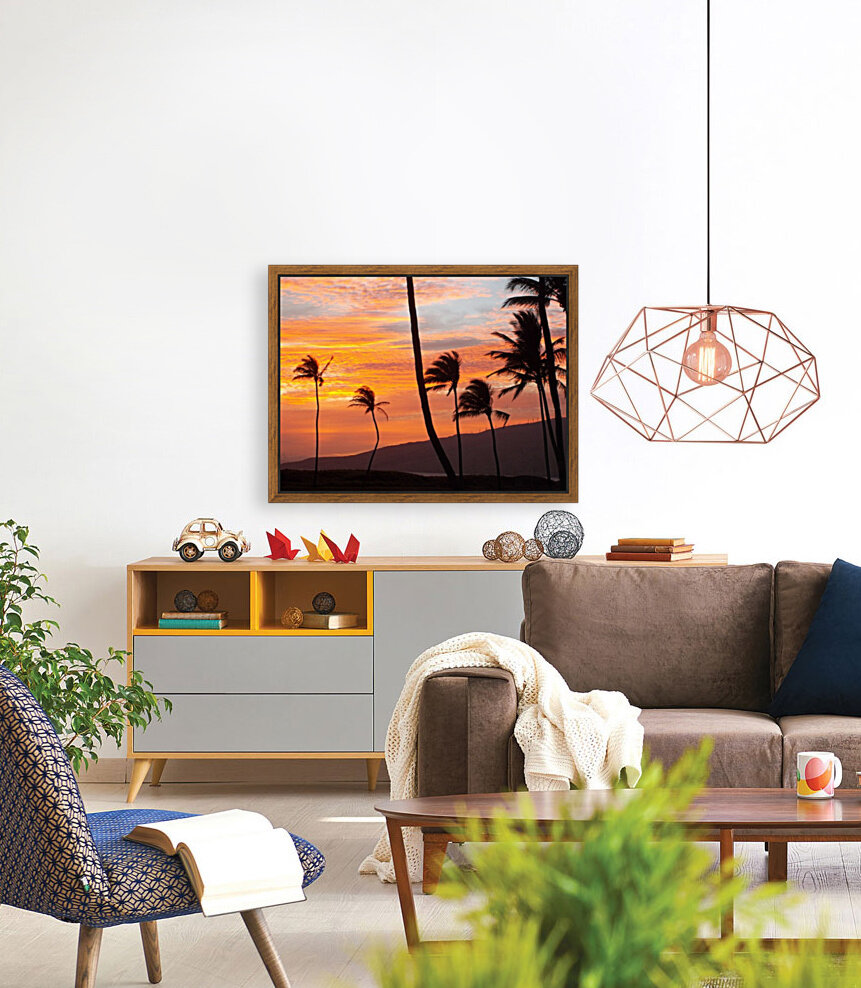Maui Palms with Floating Frame