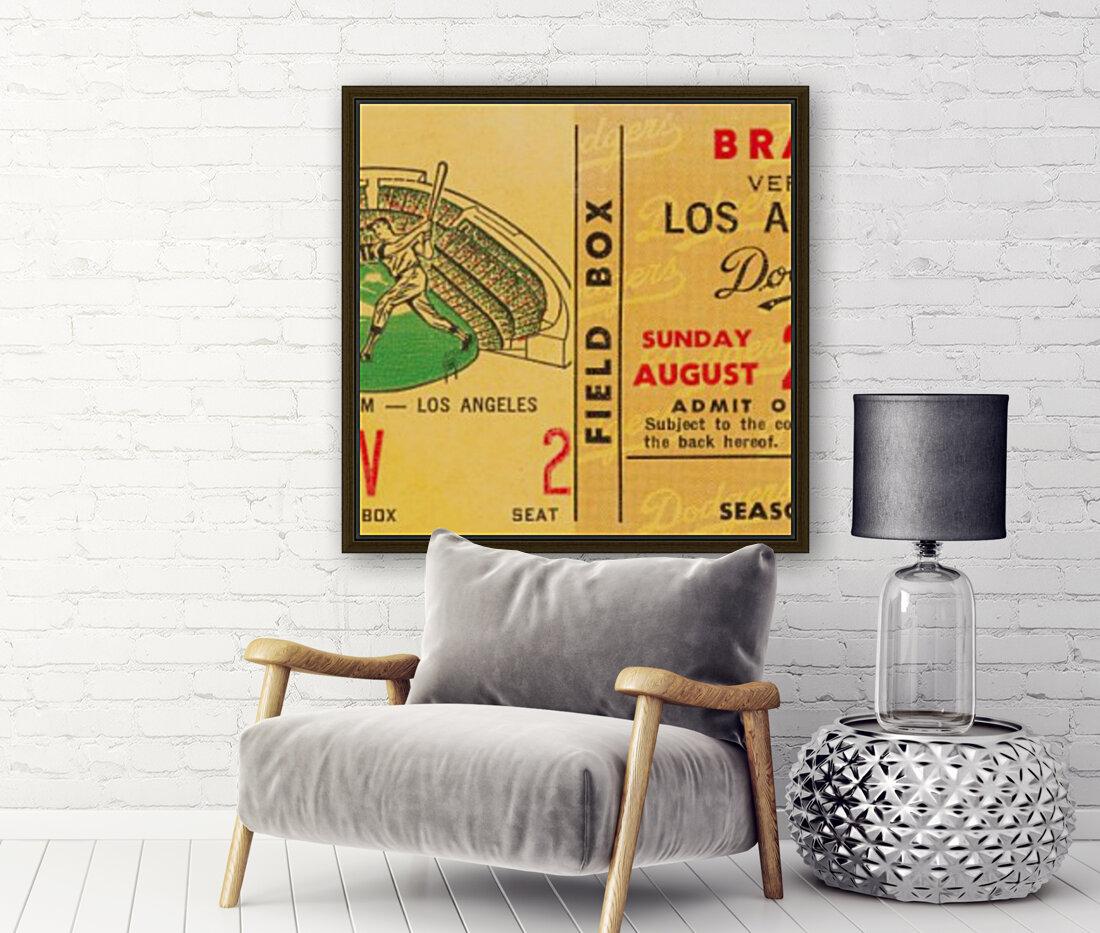 1967 la dodgers atlanta braves baseball sports ticket art   Art