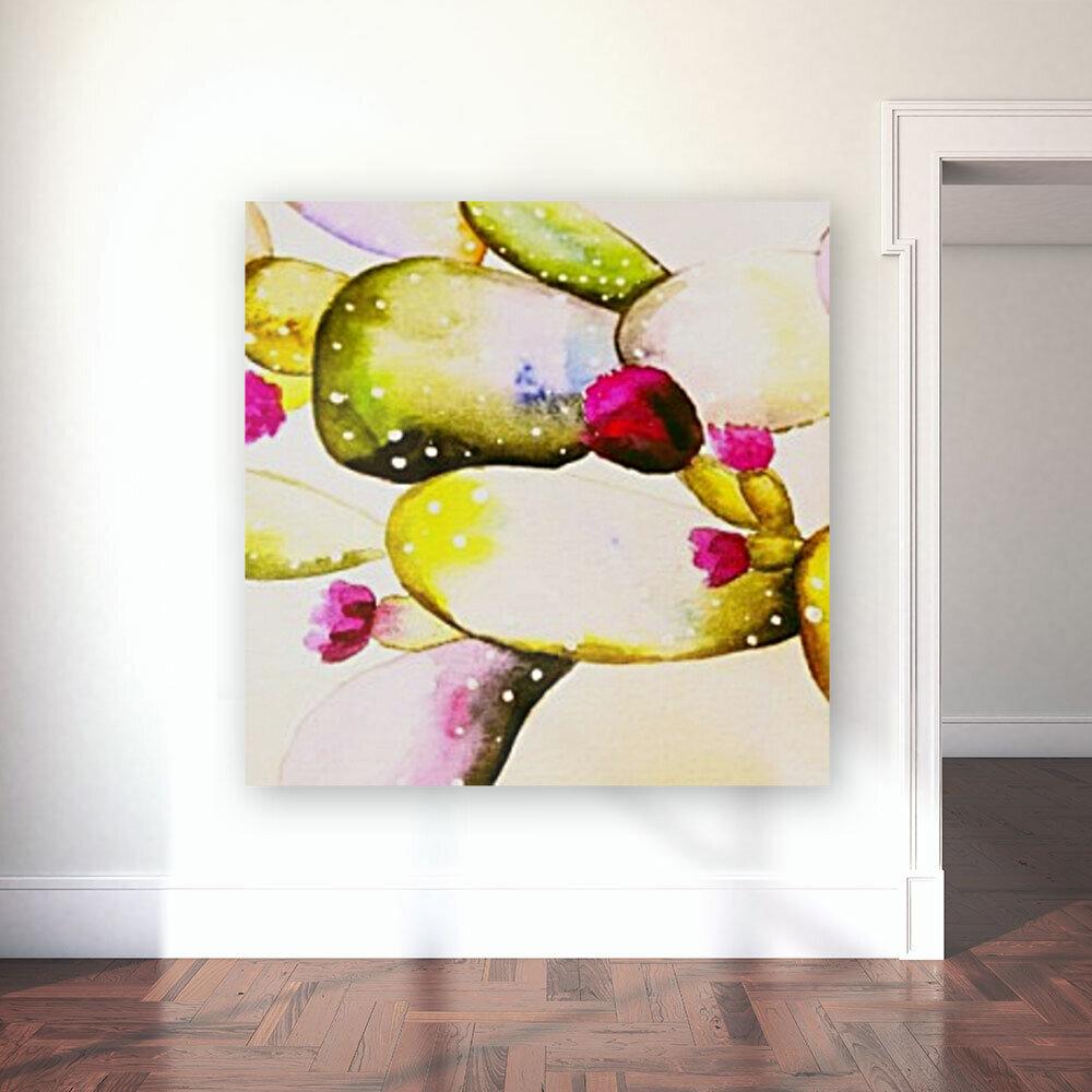 water color cactus flower  Art