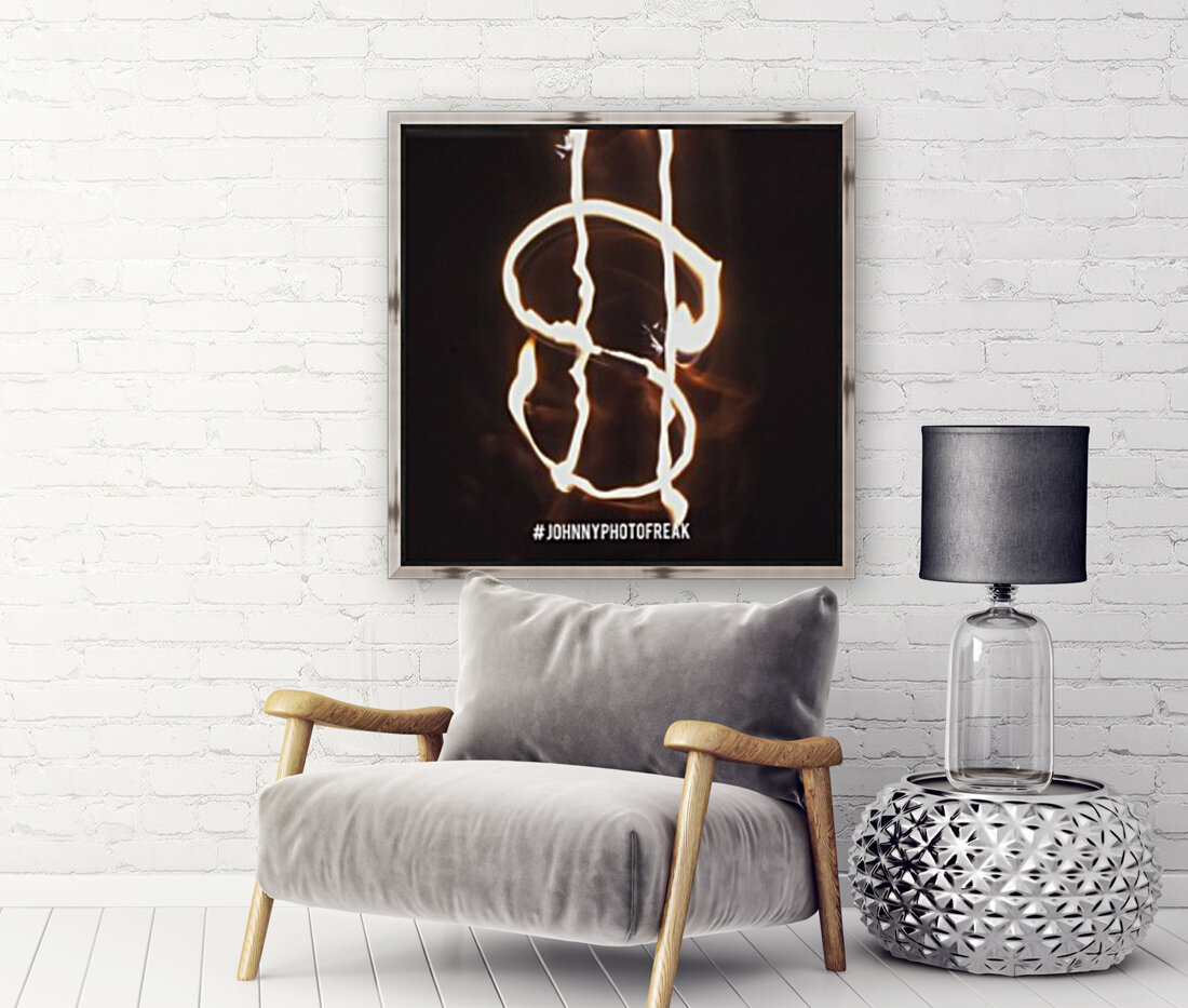 Money light painting fire  Art
