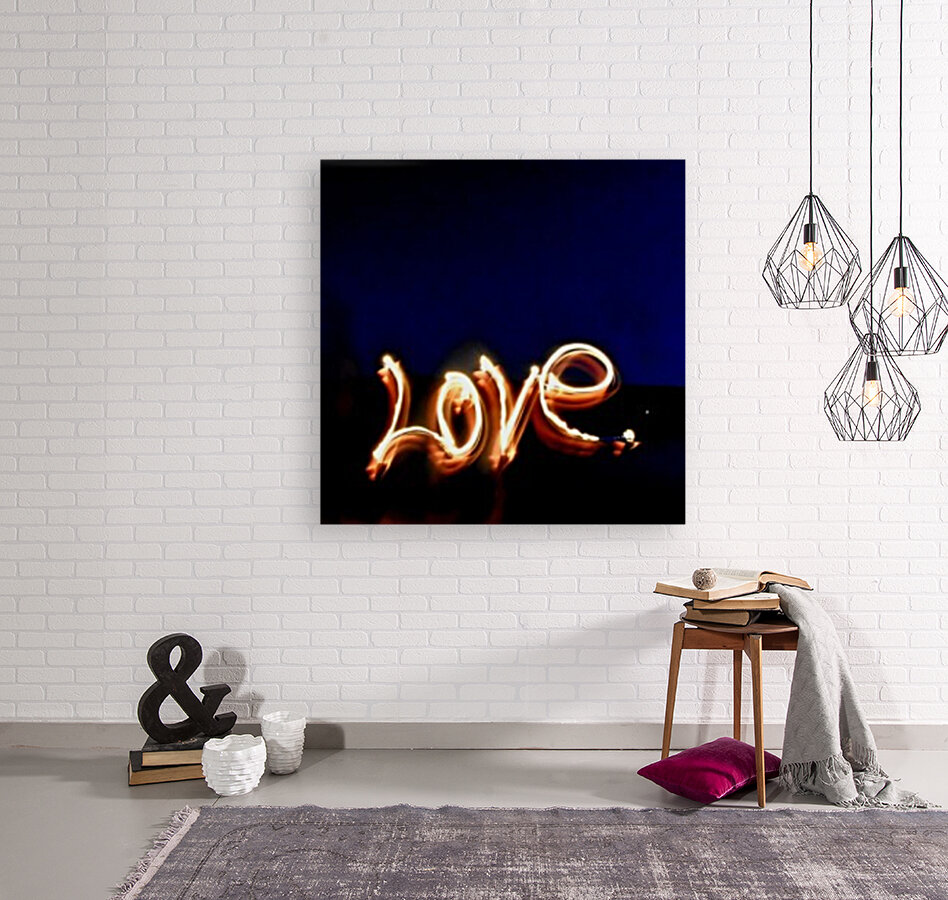 Love lights sculpture  with Floating Frame