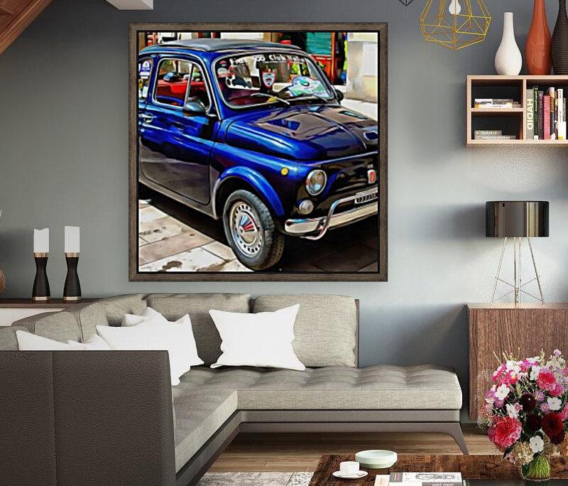 Fiat 500 Dark Blue Version  Art