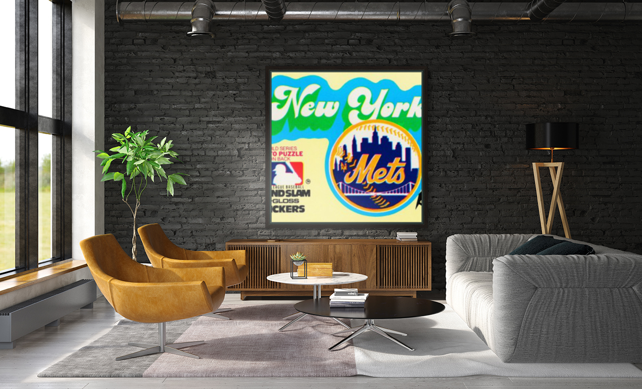 1979 fleer hi gloss sticker new york mets wall art  Art